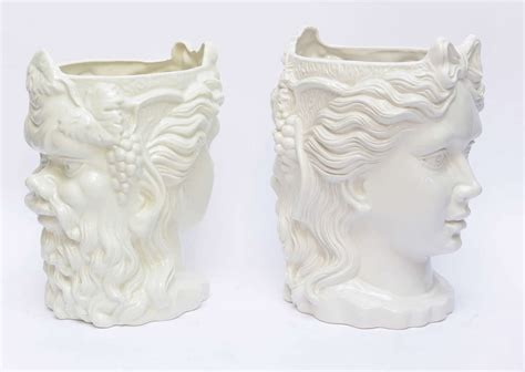 White Ceramic Planters by Pair Of Italian White Ceramic Two Planters C1950 S At