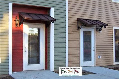 The Door Awning by Awnings Door Black Fabric Awning Installed Front
