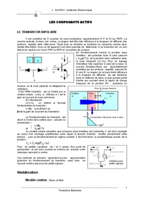 transistor npn exercices corrigés pdf transistor darlington exercice 28 images schematic transistor jfet characteristics