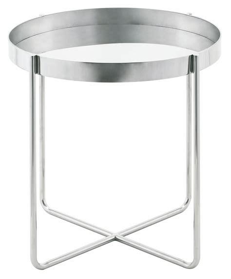 Silver Side Table Gaultier Silver Metal Side Table Hgde123 Nuevo