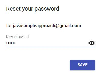 reset button android java firebase authentication send reset password email