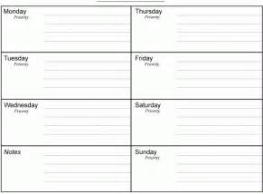 Blank Daily Planner Template Weekly Time Schedule Template Pdf Excel Word Get