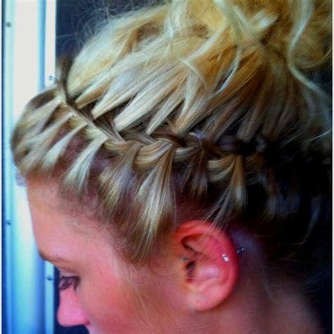 waterfall braid headband step by step upside down waterfall braid headband need to learn how to