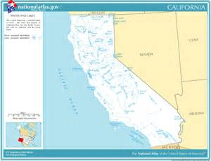 map of rivers in california printable maps reference