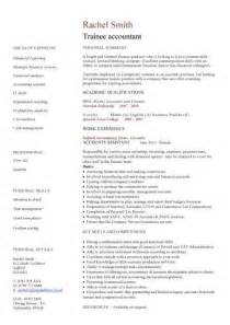 resume template for accounting graduates salary finder by job trainee accountant cv sle