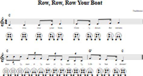 row row your boat marines six hole ocarina tab and sheet music