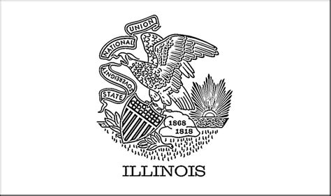 Illinois State Flag Coloring Page illinois flag coloring page purple