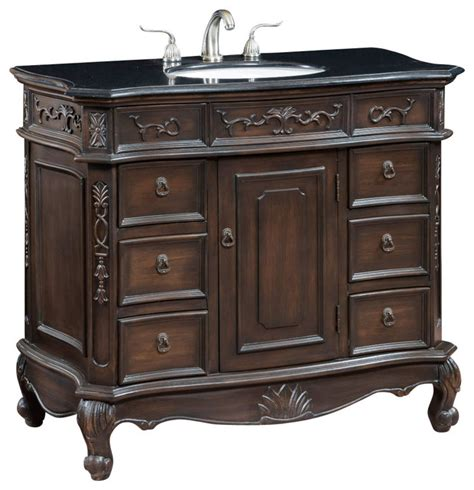 40 inch single bath vanity with black granite top
