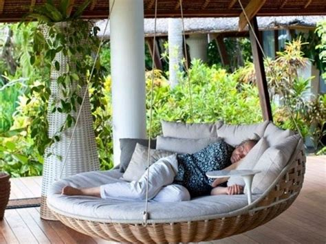 round swing bed 22 creative outdoor swing bed designs for relaxation