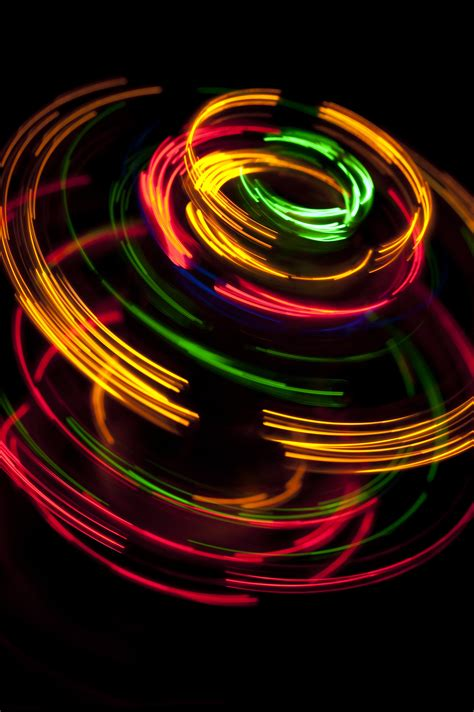 Glow Lights by Spinning Light Effect Free Backgrounds And Textures