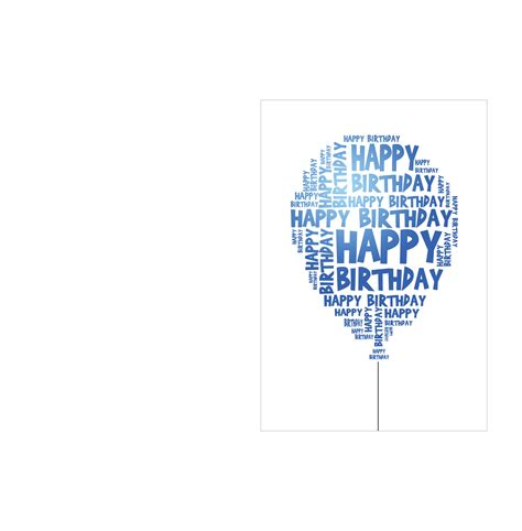 happy birthday template birthday card template with happy birthday balloon free