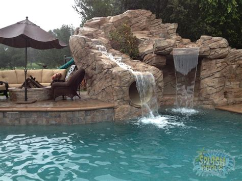 waterfalls for inground pools inground pools with waterfalls and slides interior design