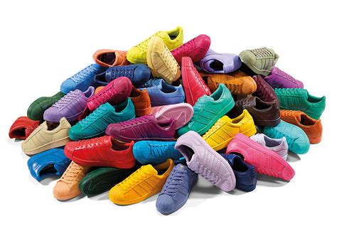 50 colors of the pharrell x adidas quot supercolor quot pack release tomorrow sneakernews