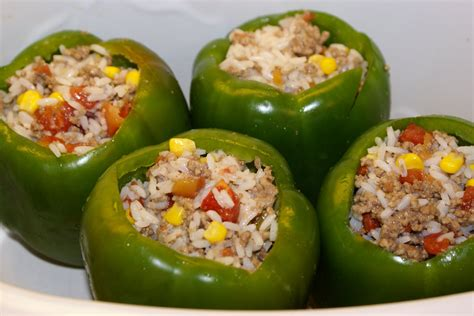 stuffed green peppers recipe dishmaps