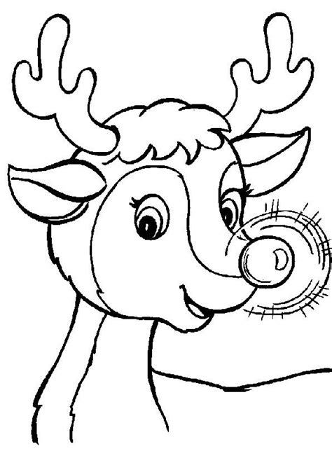 coloring page rudolph the red nosed reindeer free coloring pages of rudolph the red nosed reindeer