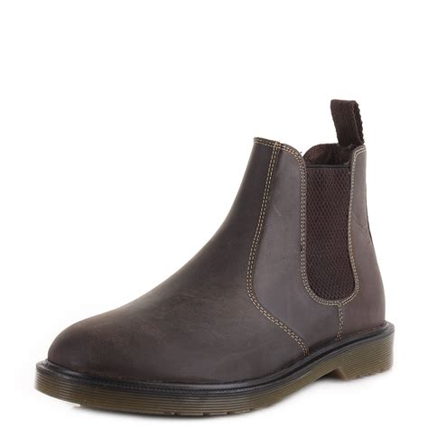 mens casual boots uk mens real leather pull on chelsea gusset ankle boots shoes