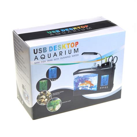 Usb Desktop Aquarium usb desktop aquarium mini fish tank with running water holds 1 5 quarts ebay