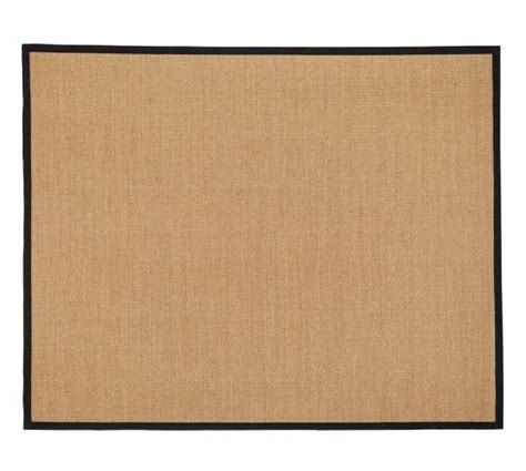 sisal rug with black border color bound sisal rug black pottery barn