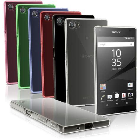 Hp Sony Ericsson Z5 funda tpu gel carcasa cover para sony xperia z5 compact e5803 prot pantalla ebay