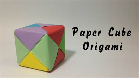 How To Make A Paper Cube Box - how to make a paper cube box easy origami