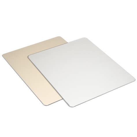 Metal Mouse Pad Rubber 240 X 180 X 3mm Silver metal aluminium alloy slim 220x180x2 mm mouse pad with non slip rubber base alex nld