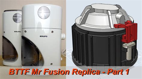 XRobots   BTTF Mr Fusion Build PART 1, Using Krups 223A Coffee Grinder, 3D printed base   YouTube
