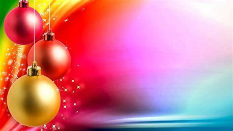 imagenes 4k navidad fondo de pantalla navidad bolas de colores delante arco iris