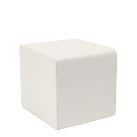 cube ottoman white moreton hire