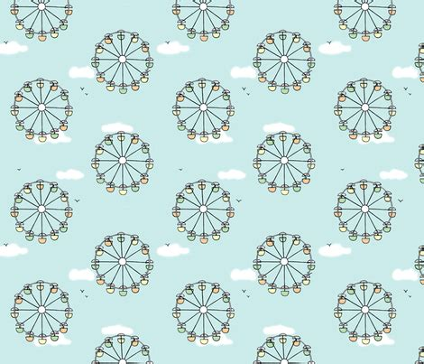 fabric pattern wheel ferris wheel polka dot fabric doodleandhoob spoonflower