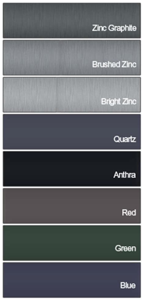 what color is zinc metal roofing cladding services kent south east