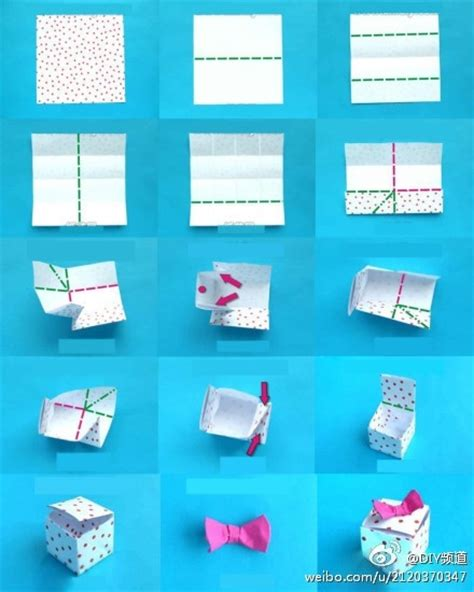 Origami Gift Box Template - origami square box with lid origami