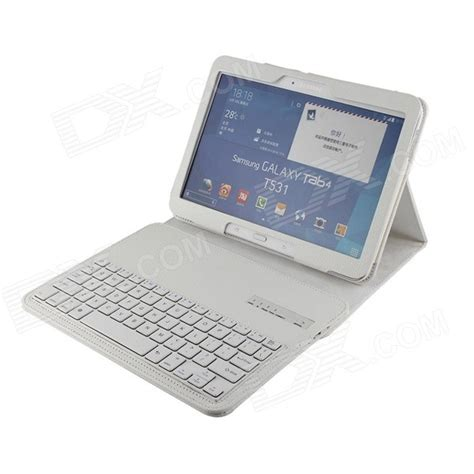 Samsung Tab V3 detachable 80 key bluetooth v3 0 keyboard for samsung galaxy tab 3 10 1 p5200 white