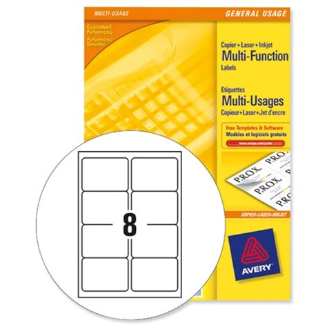 avery 3427 multi function labels 8 per sheet white 800