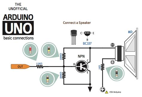 transistor bc337 arduino need a simple audio lifier