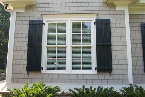 Decorative Windows For Houses Designs Board And Batton Shutters Exterior Home Design