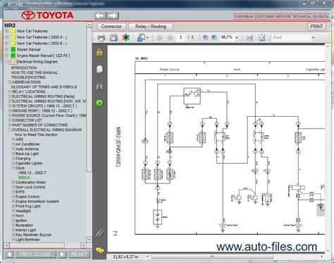 toyota mr2 repair manuals download wiring diagram electronic parts catalog epc online