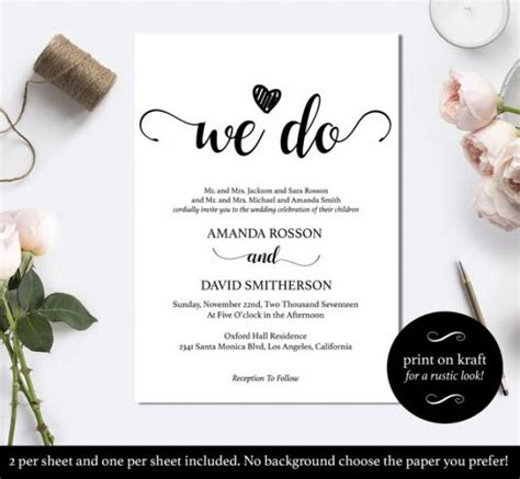 Where To Do Wedding Invitations by Black And White We Do Wedding Invitation Template