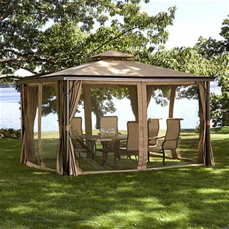 living home gazebo bjs living home elworth 10 x 12 gazebo replacement canopy