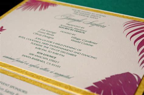 zenadia design instagram colorful jungle inspired lasercut party invitations from
