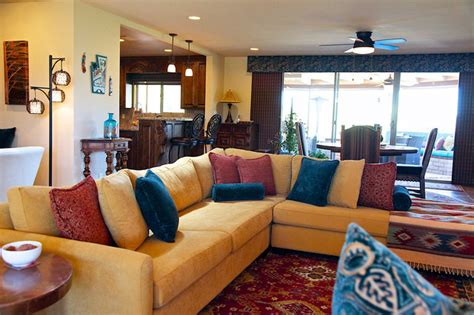 southwestern living rooms southwestern style carefree home rustic living room phoenix by dtn design group