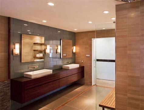 modern bathroom vanity light banheiros decorados madeira decora 231 227 o e revestimento