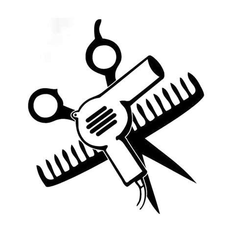 Hair Dryer Stiker 14cm 15 5cm hair dryer mirror scissors comb car sticker