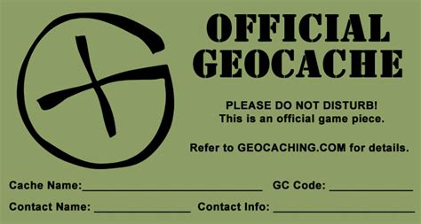 Printable Geocache Label | free printable log sheets stash notes and more ground zero