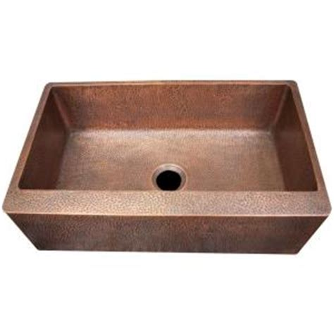 imperial farmhouse apron front hammered copper 33 in