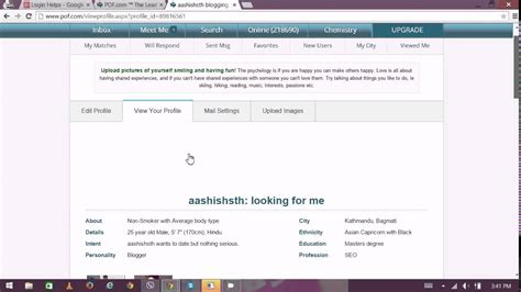 Pof Search Email How To Extend Pof Profile Pof Profile Extend Pof