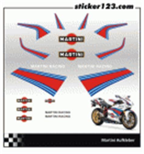 Martini Racing Aufkleber Set by Martini Motorrad Aufkleber Set Sticker123