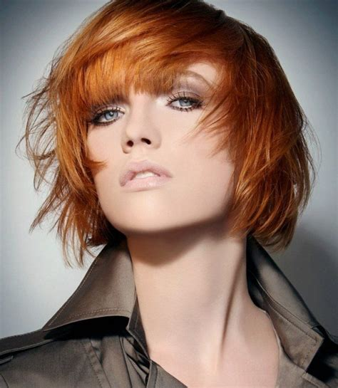 Kupferblonde Haarfarbe Frisur Styling Bob Ideen   Great
