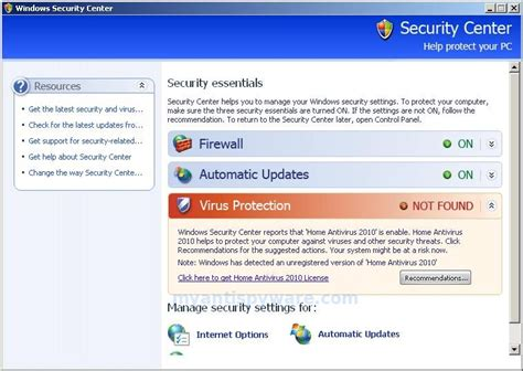 how to remove home antivirus 2010 uninstall