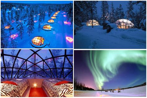 187 travel hotel kakslauttanen glass igloos finland