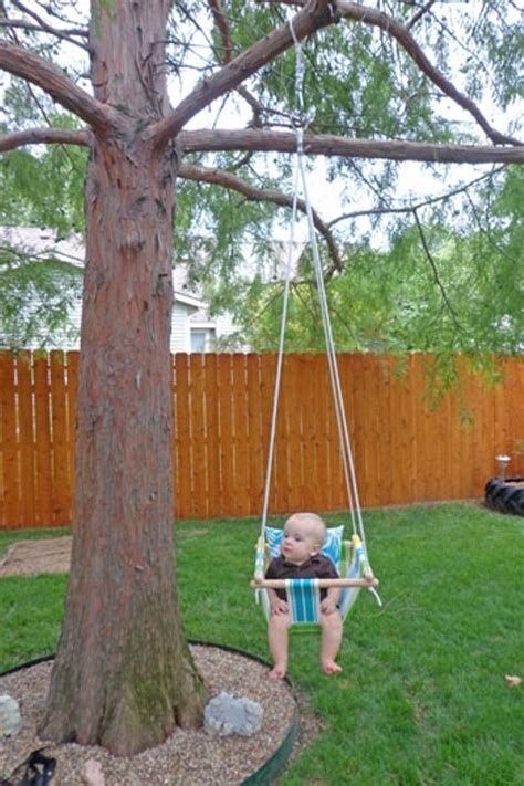home made swing diy tree swing for a baby kidsomania